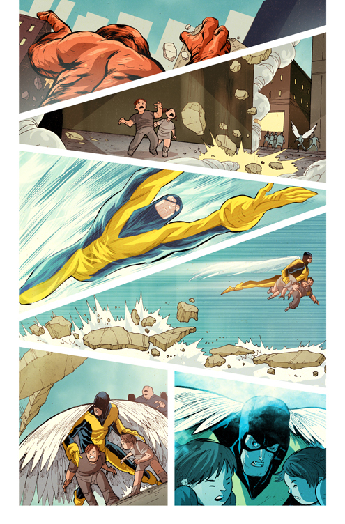 X Men First Class Comic06 X Men First Class: Iceman and Angel Comic