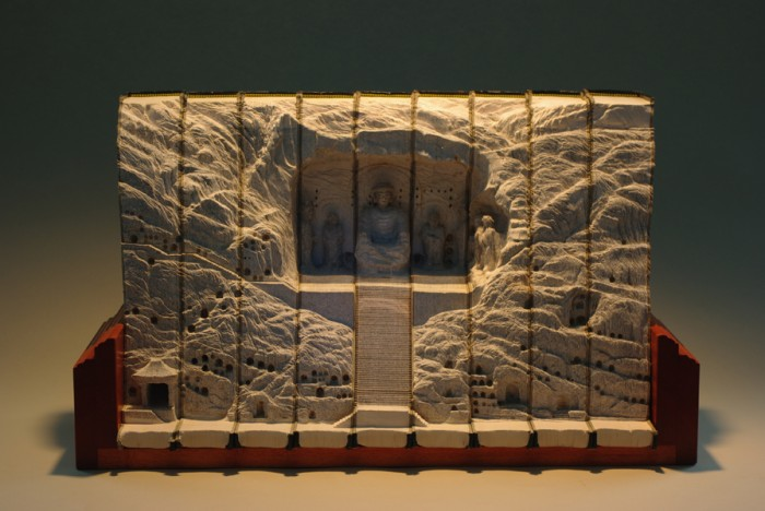 Longmen 2010 GUY LARAMEE 10 700x468 Book Carving