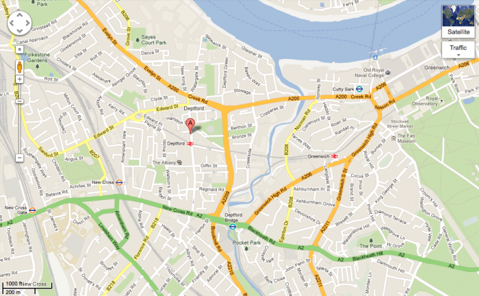 deptford map 700x432 Mike vs Jamie Exhibition