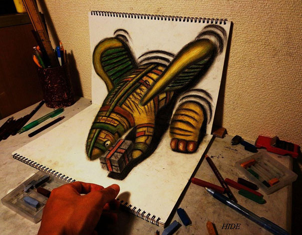 3D drawings nagai hideyuki 1 Incredible 3D Illustrations