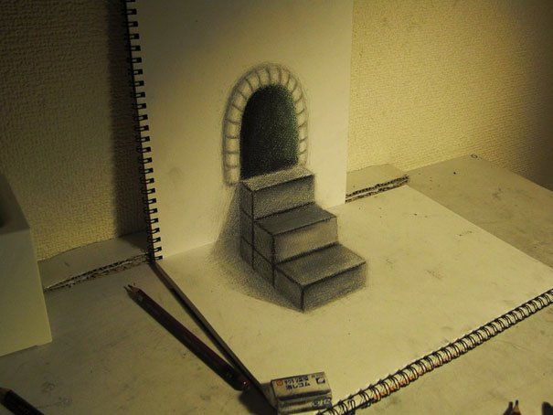 3D drawings nagai hideyuki 10 Incredible 3D Illustrations