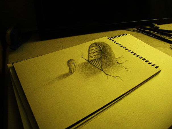 3D drawings nagai hideyuki 11 Incredible 3D Illustrations