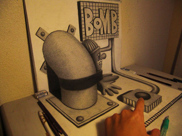 3D drawings nagai hideyuki 14 Incredible 3D Illustrations