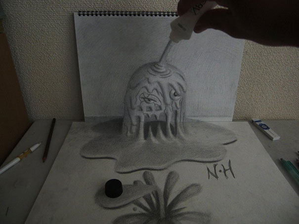3D drawings nagai hideyuki 15 Incredible 3D Illustrations