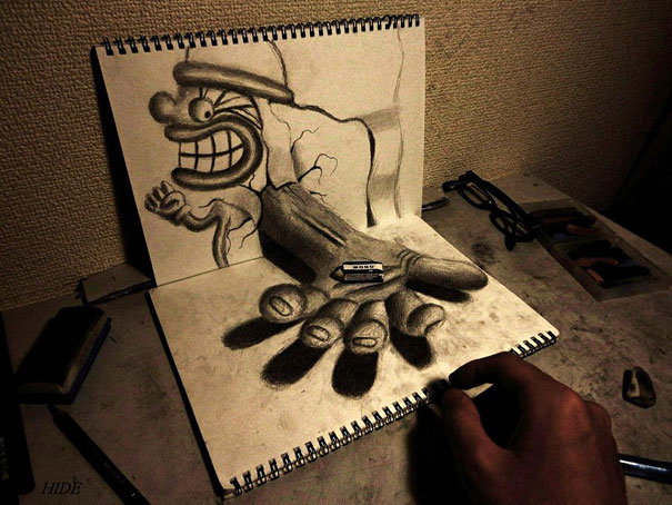3D drawings nagai hideyuki 2 Incredible 3D Illustrations