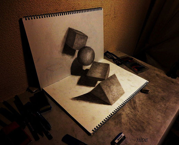 3D drawings nagai hideyuki 4 Incredible 3D Illustrations