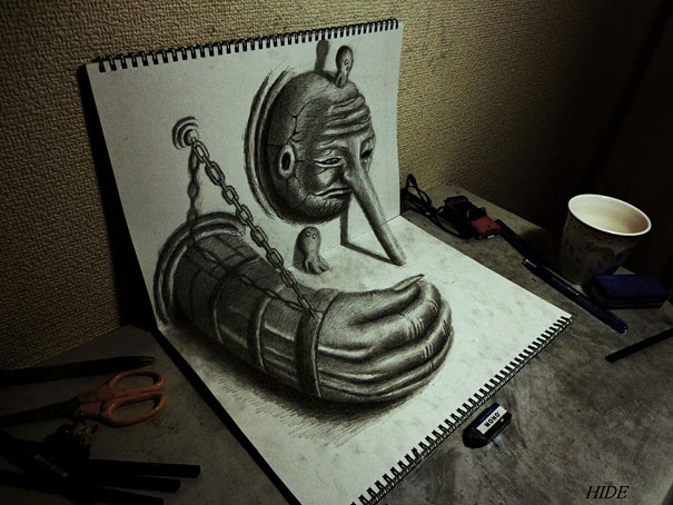 3D drawings nagai hideyuki 5 Incredible 3D Illustrations
