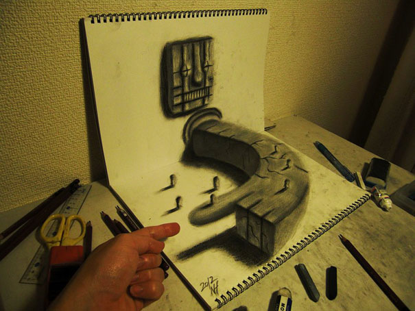 3D drawings nagai hideyuki 7 Incredible 3D Illustrations