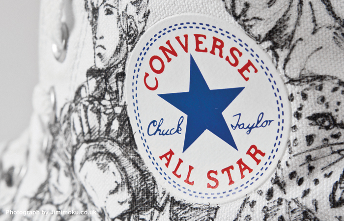 Drawn Converse Trainers