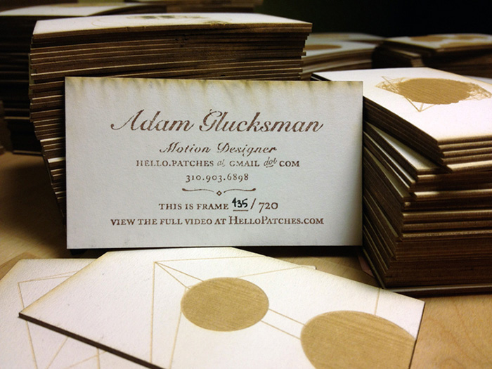 Laser cut business cards 0406 Laser Cut Business Cards
