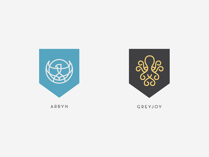 Game of Thrones House Shields