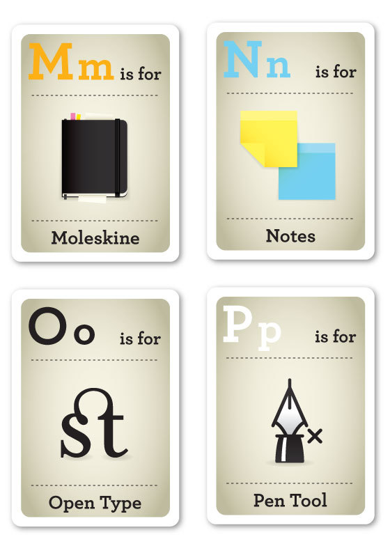modernflashcards04 Modern Day ABC... Cards