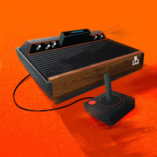 Atari 2600 Nerdy Illustrations