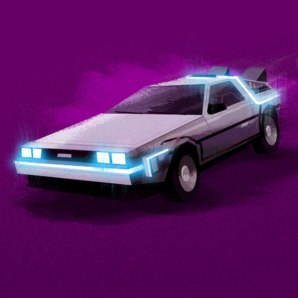 DeLorean Nerdy Illustrations