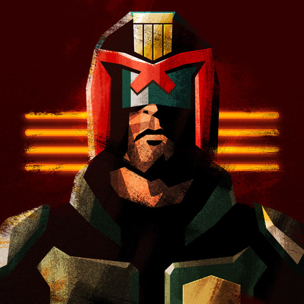 Judge Dredd Nerdy Illustrations