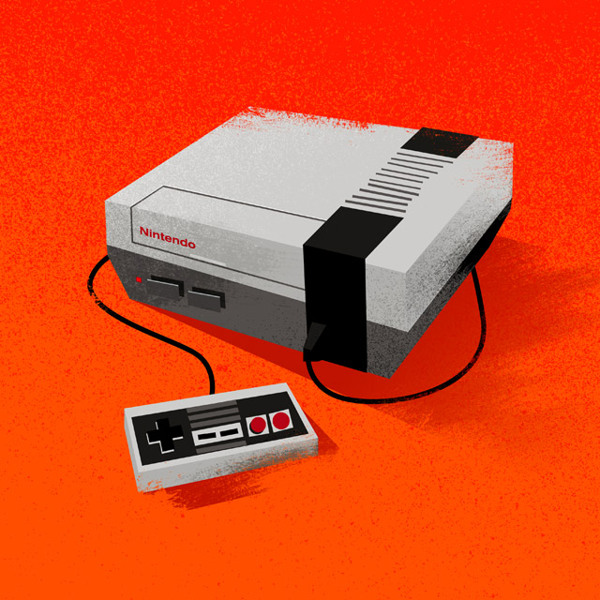 Nintendo Entertainment System Nerdy Illustrations