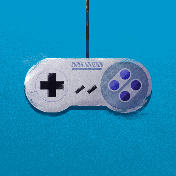 SNES Controller Nerdy Illustrations
