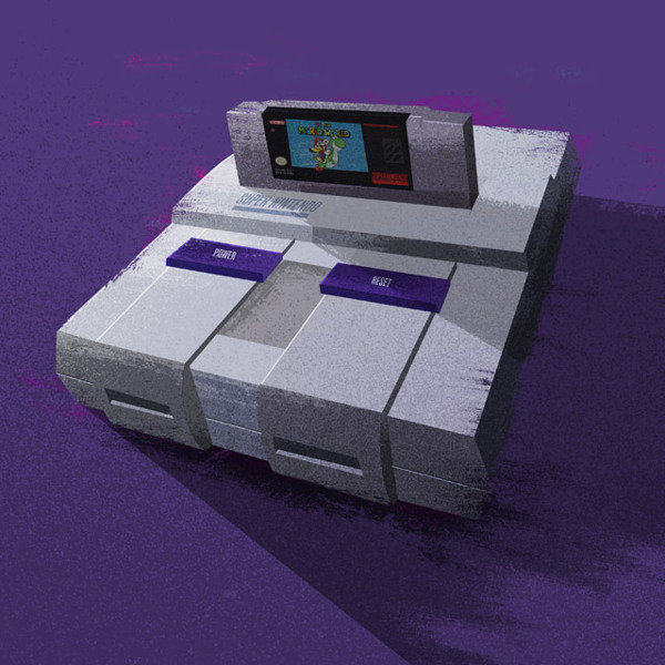 Super Nintendo Entertainment System Nerdy Illustrations