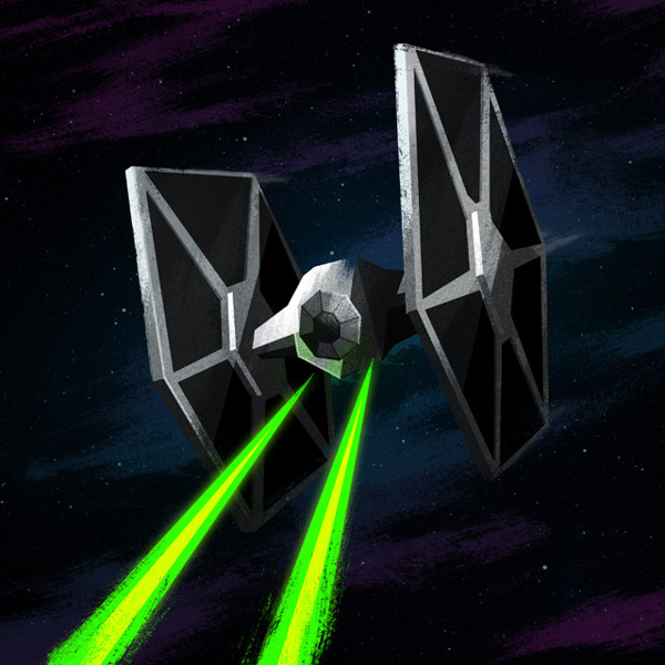 TIE Fighter Nerdy Illustrations