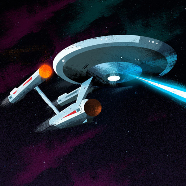 USS Enterprise Nerdy Illustrations